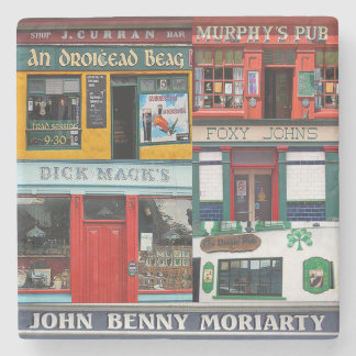 Dingle Pubs Collage, Irish Coasters. Ireland Stone Coaster