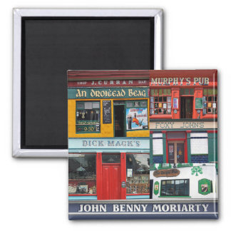 Dingle Pubs Collage, Irish Magnet. Ireland Magnet