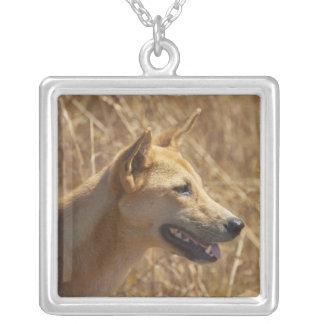 Dingo (Canis lupus dingo) Square Pendant Necklace