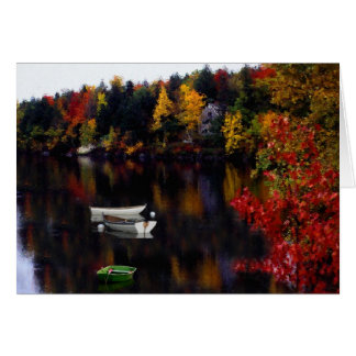 Dingy and Rowboats on Paradise Point, Hebron, NH Card