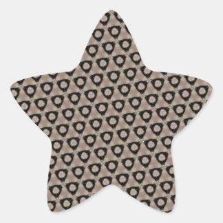 Dingy Grunge Pattern Star Sticker