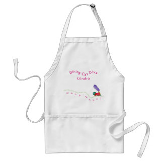 Dining Car Diva Whoo-Whoo  Train Standard Apron