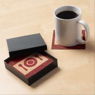 Dining Plates Graphic Drink Coaster