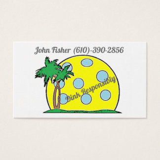 Dink Responsibly Business Cards