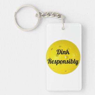 Dink Responsibly Keychain