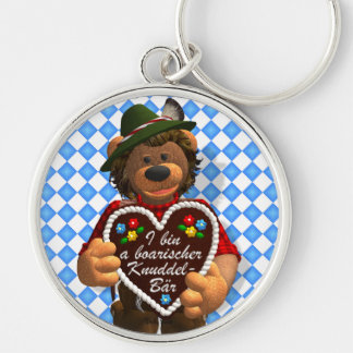 Dinky Bears Bavarian Cuddle Bear Silver-Colored Round Key Ring