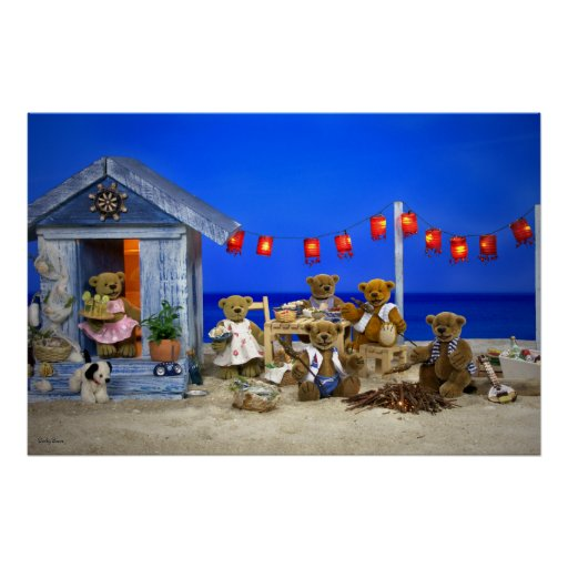 Dinky Bears: Beach Party Poster