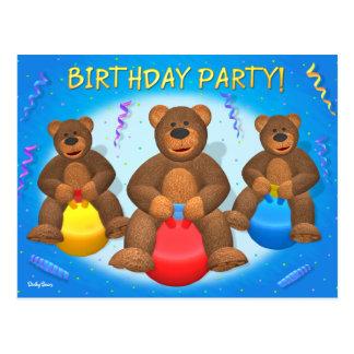 Dinky Bears Birthday Party Postcard