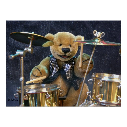 Dinky Bears Drummer Poster