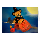 Dinky Bears Flying Witch Card