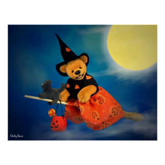 Dinky Bears Flying Witch Poster