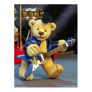 Dinky Bears Guitarist Postcard