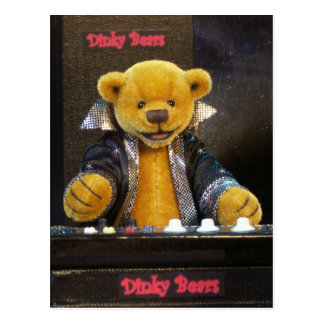 Dinky Bears Keyboarder Postcard