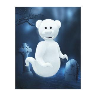 Dinky Bears: Little Ghost Canvas Prints