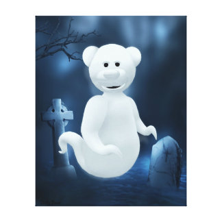 Dinky Bears: Little Ghost Canvas Prints