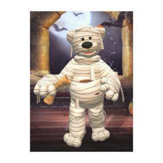 Dinky Bears: Little Mummy Stretched Canvas Print