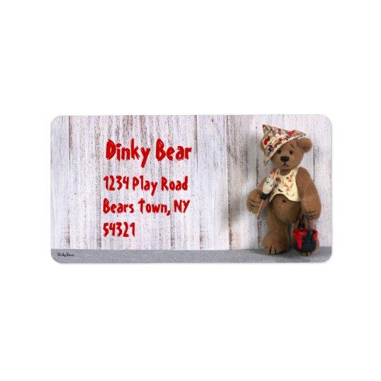Dinky Bears Little Painter Label Address Label