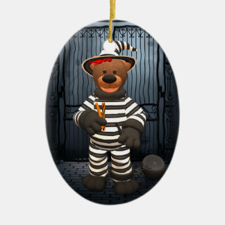 Dinky Bears Little Prisoner Ceramic Ornament