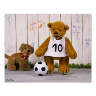 Dinky Bears Little Soccer Player Poster