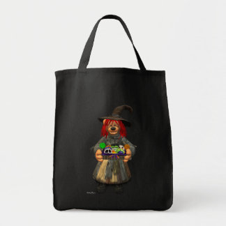 Dinky Bears Little Witch with Cookies Grocery Tote Bag
