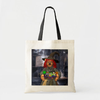 Dinky Bears Little Witch with Cookies Budget Tote Bag