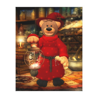 Dinky Bears: Little Wizard Gallery Wrapped Canvas