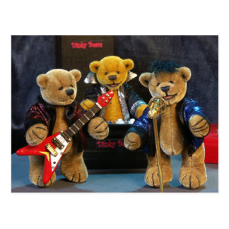 Dinky Bears on Stage Postcard