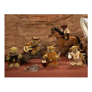 Dinky Bears: Wild West Life Postcard