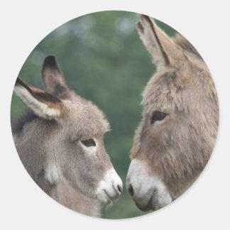 Dinky donkey classic round sticker