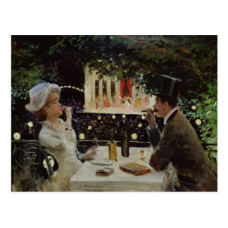 Dinner at Les Ambassadeurs, c.1882 Postcard