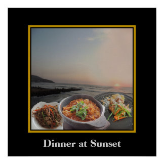 Dinner at Sunset on the Malecon in Lima Peru Poster