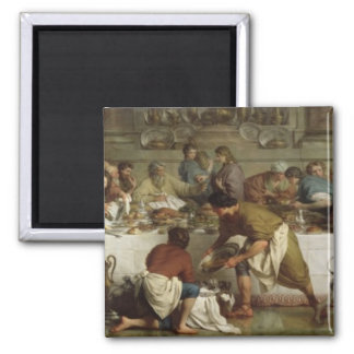Dinner at the House of Simon, 1737 Square Magnet