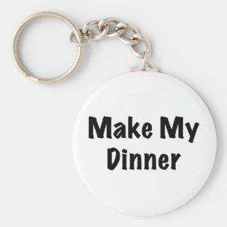 Dinner Basic Round Button Key Ring