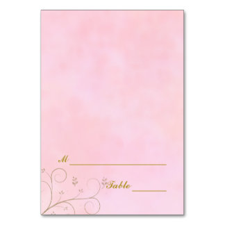 Dinner Celebration Table Place Cards | Pink Set