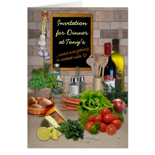 Dinner Invitation (customisable)