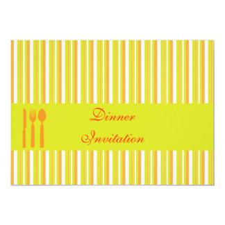 Dinner Invitation, customisable, personalised 13 Cm X 18 Cm Invitation Card