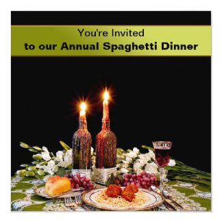 DINNER INVITATION - SPAGHETTI - WAXED CANDLES