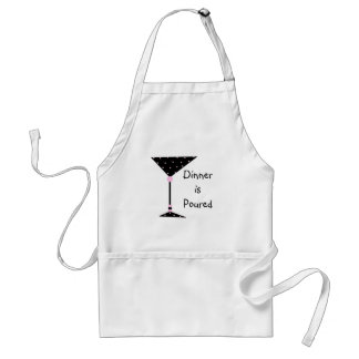 Dinner is Poured Martini Personalized Apron