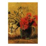 "dinner menu card, 5"" x 7"" invitation card"