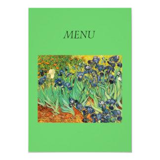 Dinner menu card, Vincent van Gogh,Irises 13 Cm X 18 Cm Invitation Card