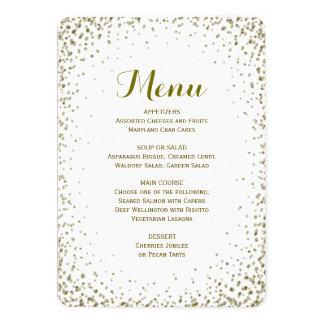 Dinner Menu | Gold Confetti Card