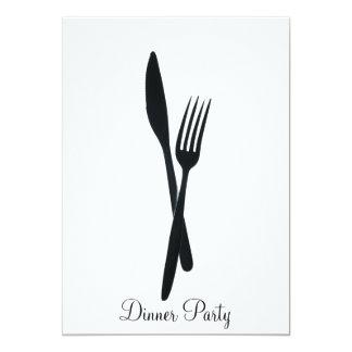 Dinner Party 13 Cm X 18 Cm Invitation Card