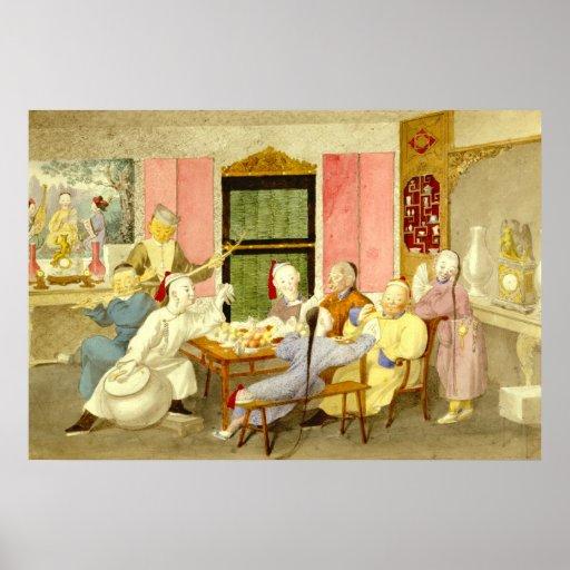 Dinner Party 1860 Print