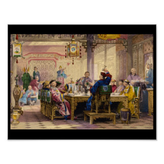 Dinner Party at a Mandarin's_Engravings Poster