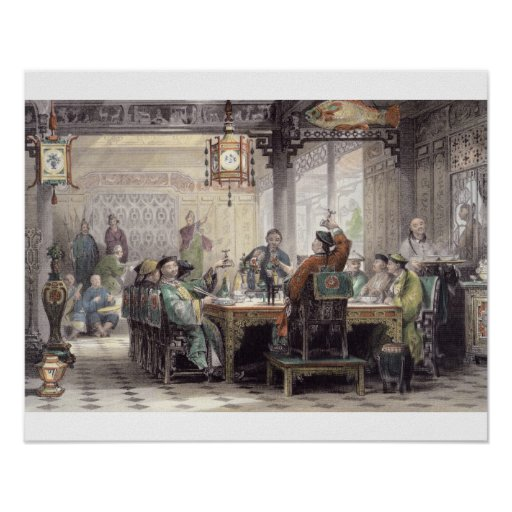 Dinner Party at a Mandarin's House, from 'China in Posters