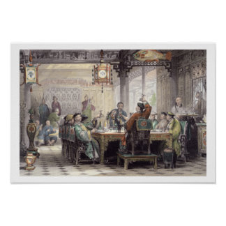 Dinner Party at a Mandarin's House, from 'China in Poster
