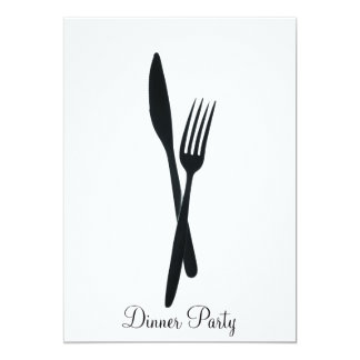 Dinner Party 13 Cm X 18 Cm Invitation Card