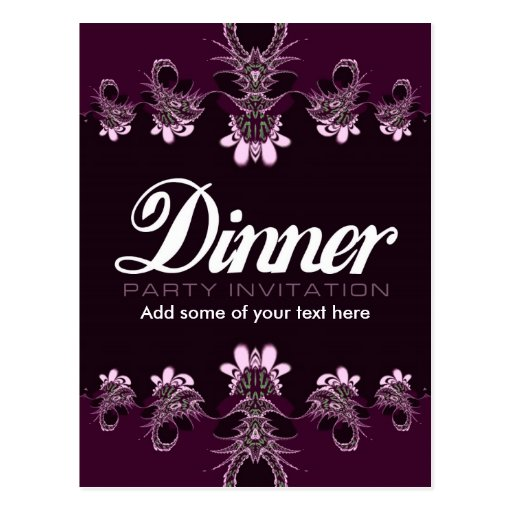 Dinner Party Invitation template Postcard
