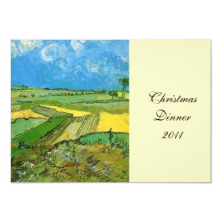 Dinner party invitation.Wheat Fields at Auvers 13 Cm X 18 Cm Invitation Card