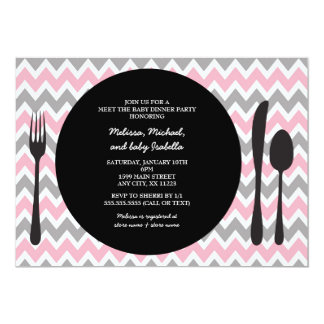 Dinner Party Invite / meet the baby girl shower